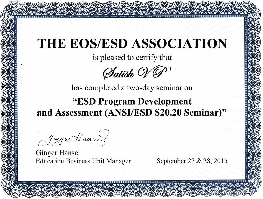 ESD Program Development